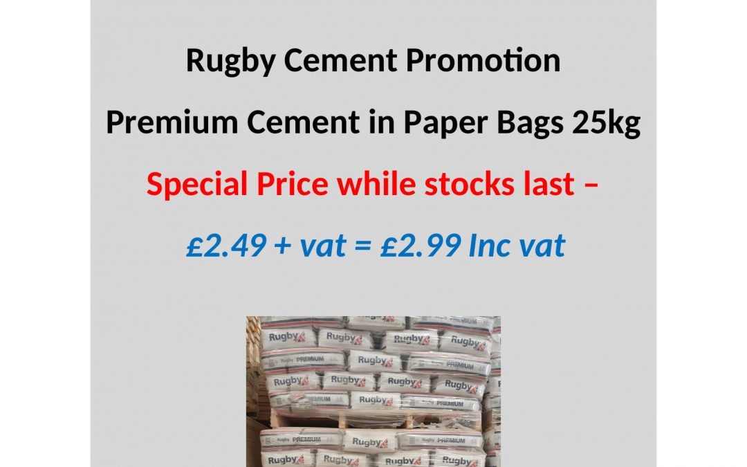 Rugby Cement Paper Bag Promo